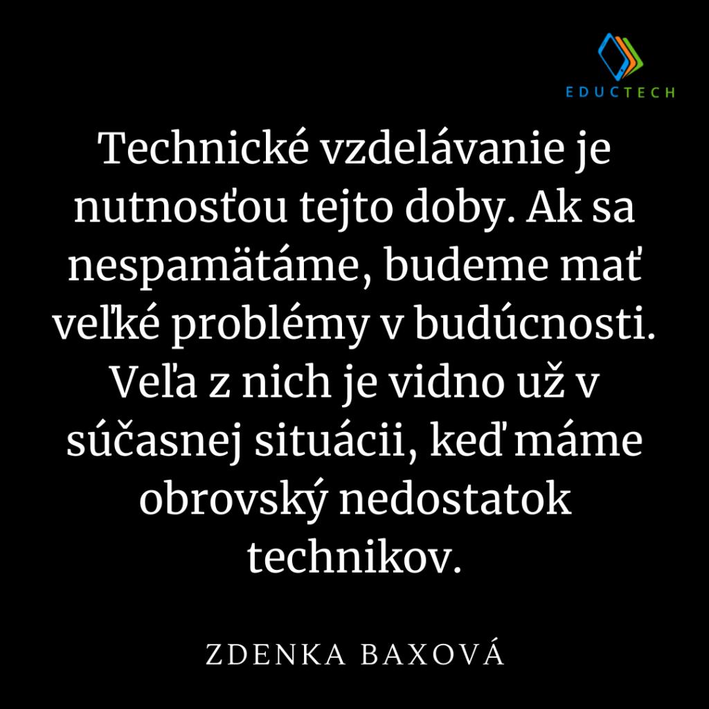 zdenka baxová citát